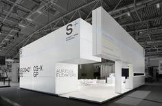 Schmitt + Sohn Aufzüge Messestand Bau 2015 München
