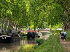 Take a boat along the Canal du Midi, a UNESCO World Heritage Site that runs from Toulouse to the Mediterranean Sea.