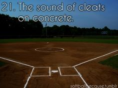 I person who likes softball would like this sound, a person who loves softball would cringe at this sound because they paid a LOT for their cleats and know that you shouldn't walk on concrete with your cleats on because it wears them down. Only wear your cleats on the field!!