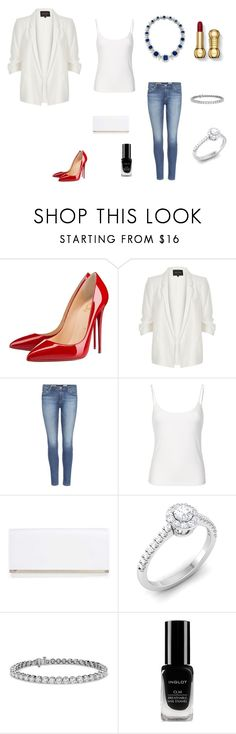 """Без названия #2146"" by newyorkstylrer ❤ liked on Polyvore featuring Christian Louboutin, River Island, AG Adriano Goldschmied, Bulgari, Boohoo, Blue Nile and Inglot"
