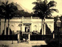 Fachada do Paço Isabel - residência da Princesa Isabel e do Conde d'Eu. Na época do Império.