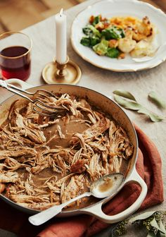 Gefrorener Weihnachtstruthahn mit Slow Cooker - www. Slow Food, Slow Cooking, Healthy Crockpot Recipes, Snack Recipes, Pulled Turkey, Confort Food, Xmas Food, How To Cook Quinoa, Clean Eating Recipes