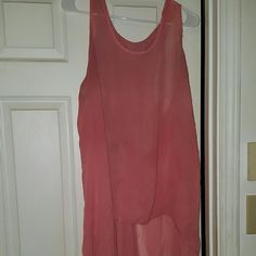 Hi low tank See through, hi low peach tank with keyhole in back Tops Tank Tops
