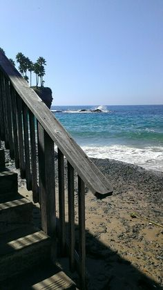 Stairs to beach, Crescent Bay