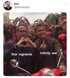 They basically erased everything that happened in Ragnarok, within the first 45 minutes of IW.