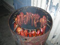 Diy Outdoor Kitchen, Outdoor Cooking, Oil Drum Bbq, Backyard Bbq Pit, Barrel Bbq, Brick Bbq, Homemade Smoker, Four A Pizza, Fire Food