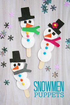 35 Winter Crafts for Kids 35 Winter Crafts for Kids,Christmas crafts Winter Crafts for Toddlers and Kids – Cotton Pad Snowman Puppets – Easy Art Projects and Craft Ideas for 2 Year Olds, Preschool. Kids Crafts, Winter Crafts For Toddlers, Winter Kids, Winter Art, Christmas Crafts For Kids, Craft Stick Crafts, Holiday Crafts, Arts And Crafts, Craft Sticks