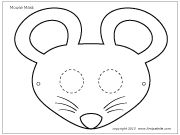 Mouse mask coloring page