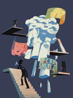 Fact checking: the truth that does not disturb - Reputation Squad - Medium Illustration Design Graphique, Art Et Illustration, Business Illustration, Art Graphique, Poster Art, Poster Drawing, Graphic Design Posters, Graphic Art, Posters Conception Graphique