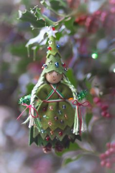 Christmas Tree Fairy doll by Lenka at Forest Fairy Crafts