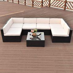Gartenmöbel set rattan  Details zu Poly Rattan Gartenmöbel Set Sitzgruppe Garnitur Lounge ...
