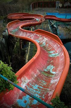 Abandoned water slide - can you imagine all the fun?
