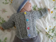 Knit baby cardiganknit baby boy's and girl's sweater by KnitDjin