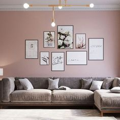 A set of gray & pink room idea~ Are you inspired? Living Room Decor Colors, Cozy Living Rooms, Room Colors, Home Living Room, Living Room Designs, Bedroom Decor, Photo Wall Decor, Lounge Design, Pink Room
