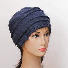 hat - blue-wool. $20.00, via Etsy.