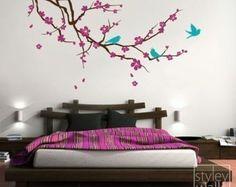 Árbol con etiqueta de la pared de hojas árbol de por styleywalls