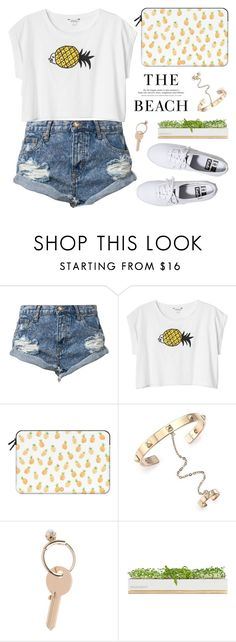 """""""Summer Vibes"""" by alexandra-provenzano ❤ liked on Polyvore featuring moda, One Teaspoon, Monki, Casetify, Valentino, H&M, Maison Margiela, Bambeco, Keds y women's clothing"""