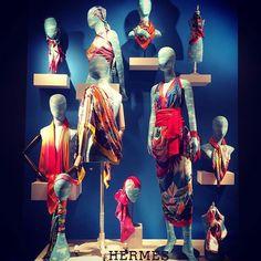 """HERMES,Paris,France, """"Get Wrapped Up"""", pinned by Ton van der Veer"""