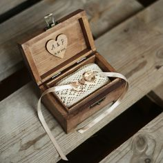 Personalized wedding ring box. Wooden ring holder. Wedding accessory from collective made via en.dawanda.com