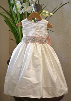 Christening Dress Baptism Dress Flower Girl by CouturesbyLaura, $189.99