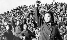 "Chinese red guards who were ordered to destroy the ""four olds"" - old ideas, old customs, old habits and old culture during the cultural revolution in 1966"
