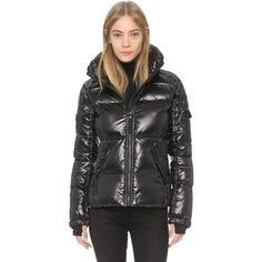 SAM. Freestyle Jacket ($295) ❤ liked on Polyvore featuring outerwear, jackets, jet, lined jacket, zip pocket jacket, zip jacket, pocket jacket and feather jacket