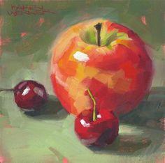 """""""Familiar Fruit"""" - Original Fine Art for Sale - © Karen Werner"""