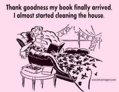 Book humor and funny memes about cleaning that bookworms will understand. I Love Books, Books To Read, My Books, Book Memes, Book Quotes, Reading Quotes, I Love Reading, Book Nooks, Funny Images