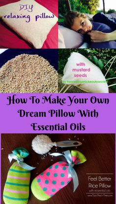 Are you looking for some ways to make your own dream pillow? Don't look any further. Today, I would love to share this awesome article of DIY Relaxing Pillow With Mustard Seeds and Essential Oils