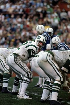 Joe Namath in Super Bowl III At the line of scrimmage during Super Bowl III versus Baltimore Colts at Orange Bowl Stadium Miami Fl. 1/12/1969