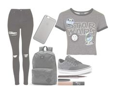 """""""Star Wars"""" by streesed-and-depressed ❤ liked on Polyvore featuring Topshop, Native Union, Vans, Marc Jacobs, NARS Cosmetics, 68 and XxEmsHashTagxX"""