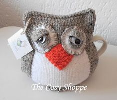 Knitting Patterns Free, Knit Patterns, Free Knitting, Knitted Owl, Tea Cozy, Tea Cosies, Cozies, Cosy, Crochet Hats