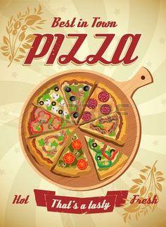 poster pizza vintage - Pesquisa Google