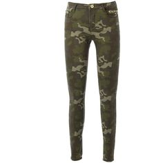Camo Skinny Jeans ❤ liked on Polyvore featuring jeans, pants, bottoms, pantalones, camouflage skinny jeans, camo skinny jeans, white jeans, white denim skinny jeans and white skinny leg jeans