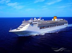 COSTA VICTORIA, type:Passenger (Cruise) Ship, built:1996, GT:75166, http://www.vesselfinder.com/vessels/COSTA-VICTORIA-IMO-9109031-MMSI-247109000