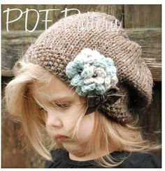 Knitting PATTERN-The Gysella Slouchy (pattern includes the sizes for: toddler…