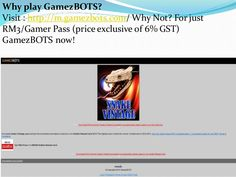 To subscribe to GamezBOTS Gamer Pass, type ON GB and SMS TO 27300. RM3/pass (price exclusive of 6% GST), 1 Pass/week, OR click here to register. Visit : http://m.gamezbots.com/