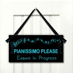Turquoise Music Notes Teacher Classroom Door Sign by kasefazem, $15.99