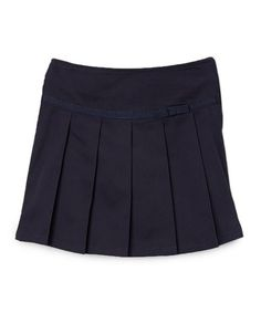 This Navy Pleated Ribbon Scooter Skirt - Toddler & Girls is perfect! #zulilyfinds