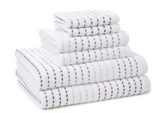 6-Pc Pique Towel Set, Dove on One Kings Lane today