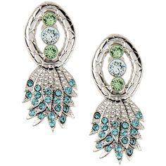 Ca & Lou Earrings ($215) ❤ liked on Polyvore featuring jewelry, earrings, silver, ca&lou, rhinestone jewelry, rhinestone earrings, rhinestone stud earrings and logo earrings