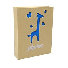 Chinatera Albums Inserted Photos Storage Case 200 Pictures Holder Scrapbook Giraffe Style (7 inch)