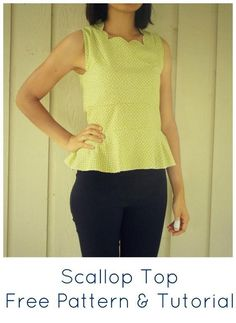 Scallop Top by Daniela Gutierrez-Diaz | Sewing Pattern - Looking for your next project? You're going to love Scallop Top by designer Daniela Gutierrez-Diaz. - via @Craftsy