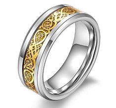 NEW ARRIVAL!   Valentine's Day V...   http://www.zxeus.com/products/valentines-day-vintage-chinese-dragon-tungsten-steel-golden-ring-for-men-lord-wedding-titanium-rings-band-new-ring-jewelry?utm_campaign=social_autopilot&utm_source=pin&utm_medium=pin