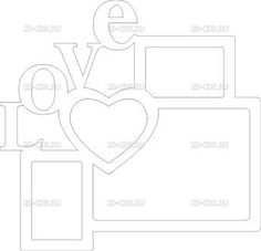 Heart photo frame vector plan, photo holder, laser cut vector model, vector template for laser cutting, cnc file, instant download Cardboard Crafts, Foam Crafts, Diy And Crafts, Paper Crafts, Photo Frame Design, Laser Cutter Projects, Craft Images, Graduation Party Decor, Frame Clipart