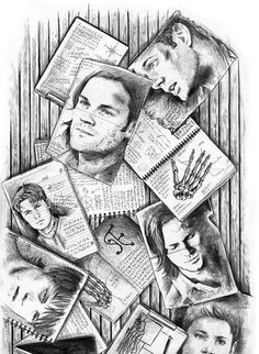 Supernatural Art -never seen the show, I just like the concept of the picture.