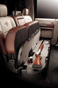 Rifle storage.