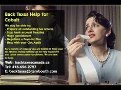 Cobalt   Back Taxes Canada.ca   416-626-2727   taxes@garybooth.com   CRA Audit, Tax Returns