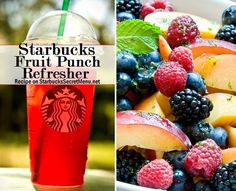 The weather is warming up! Celebrate with a Starbucks Secret Menu Fruit Punch Refresher! Recipe: http://starbuckssecretmenu.net/starbucks-secret-menu-fruit-punch-refresher/