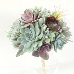 Succulent Bridal Bouquet | Bridesmaid Bouquet | Green Wedding ...
